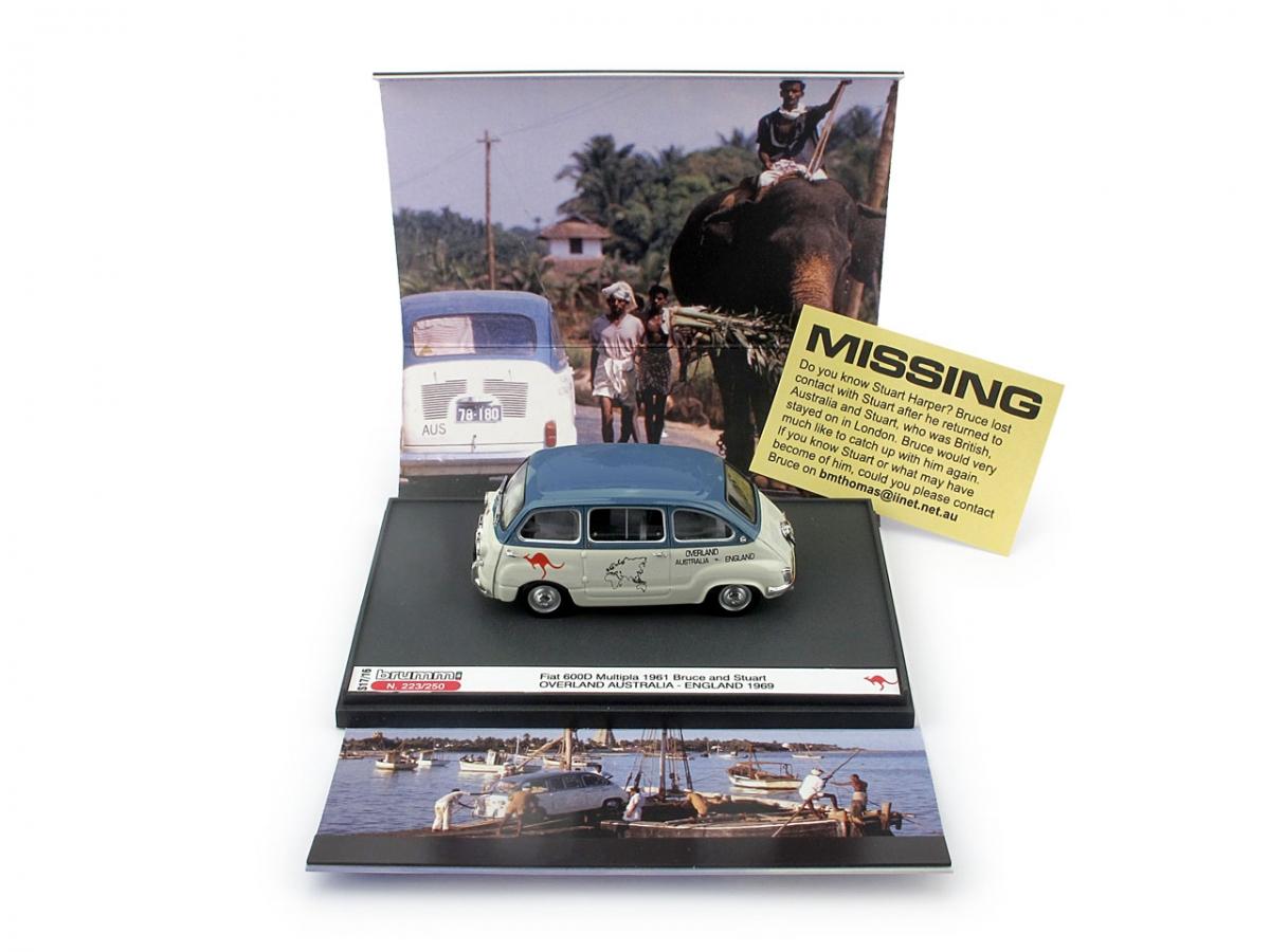 Limited 250 pcs Fiat 600D Multipla Australia 1:43 Inghilterra Overland 1969