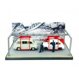 AS39 FIAT 600+FIAT 600 1964 CATENA MONTAGGIO