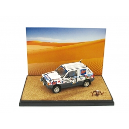 AS49 FIAT PANDA 4X4 PARIGI-DAKAR 1984 +FIGURE