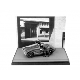 AS50BW FERRARI 125 1947+2 MECCANICI BLACK&WHITE