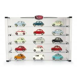 BOX500 EXPO FIAT 500 + 15 AUTO COLLEZ. PERFETTA