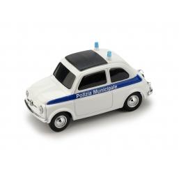 BR035B FIAT 500 BRUMS POLIZIA MUNICIPALE BLU