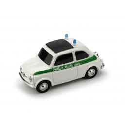 BR035V FIAT 500 BRUMS POLIZIA MUNICIPALE VERDE