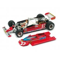 P003 FERRARI 126CK 1981 GP MONACO VILLENEUVE