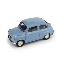 R247-04 FIAT 600 1a SERIE 1955 AZZURRO CENERE