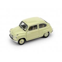 R247-09 FIAT 600 1a SERIE 1955 BEIGE