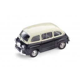 R333-01 FIAT 600D MULTIPLA 1960 AVORIO/NERO