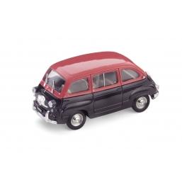 R333-03 FIAT 600D MULTIPLA 1960 ROSSO/NERO
