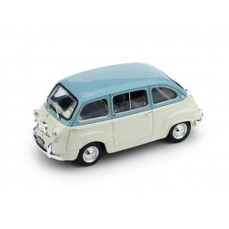 R333-04 FIAT 600D MULTIPLA 1960 CELESTE/GRIGIO