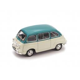 R333-05 FIAT 600D MULTIPLA 1960 TURCHESE/GRIGIO