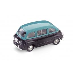 R333-06 FIAT 600D MULTIPLA 1960 TURCHESE/NERO