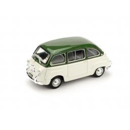 R333-07 FIAT 600D MULTIPLA 1960 VERDE OL./GRIGIO