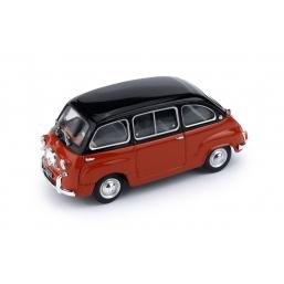 R333-08 FIAT 600D MULTIPLA 1960 NERO/ROSSO CORAL