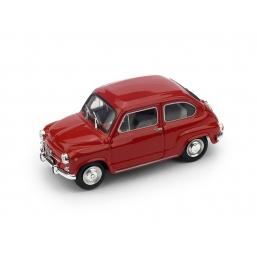 R349-07 FIAT 600D 1965 ROSSO MEDIO