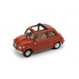 R364-01 FIAT NUOVA 500 TETTO APRI.'59 ROSSO AP.