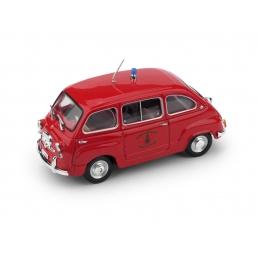 R402 FIAT 600D MULTIPLA 1960 VIGILI DEL FUOCO