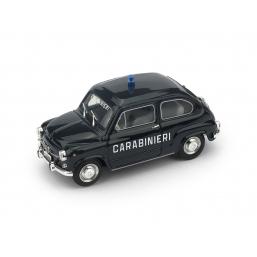 R403 FIAT 600D 1965 CARABINIERI