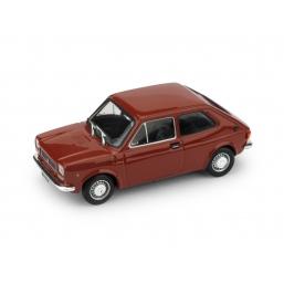 R605-01 FIAT 127 1972 TRE PORTE ROSSO CORALLO